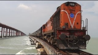 Rameswaram India  city photos : Train over the Sea ! Rameswaram Express on Pamban Bridge