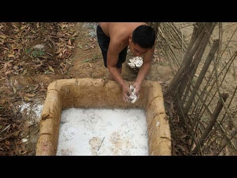 Primitive Technology:Lime Kiln-part 2-success rate:from 30% to 70% Primitive life!