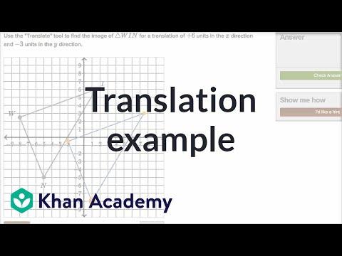 Performing Translations Video Khan Academy