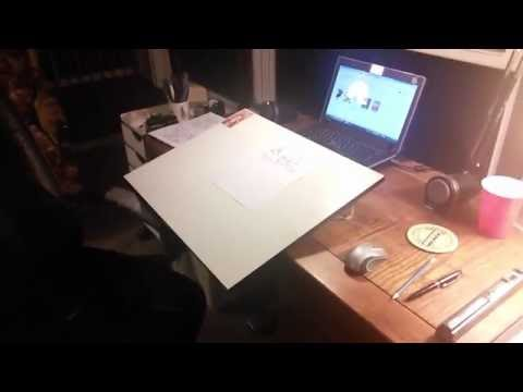 Koh I Noor Portable Studio Drawing Board With Carrying Case 14 3