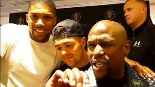 Mayweather Praises Joshua and Plans to Help Him with Career