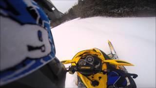 1. Shredding deep powder on 2008 Ski Doo 550f mxz
