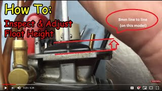 8. Float Height: Inspection and adjustment the RIGHT & WRONG way! Demo on: YZ250F