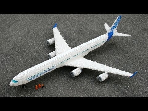Lego Plane on Video -B-1  B-2...
