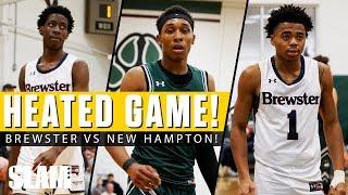 Jalen Lecque & Brewster HEATED BATTLE vs New Hampton! 🤬😱