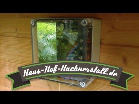 Automatische Hühnerklappe - Türöffner für Enten- oder Hühnerstall