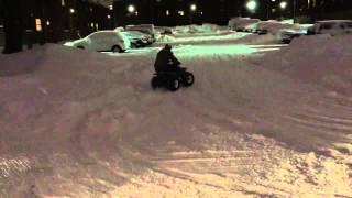 4. Kawasaki kfx80 snow fun