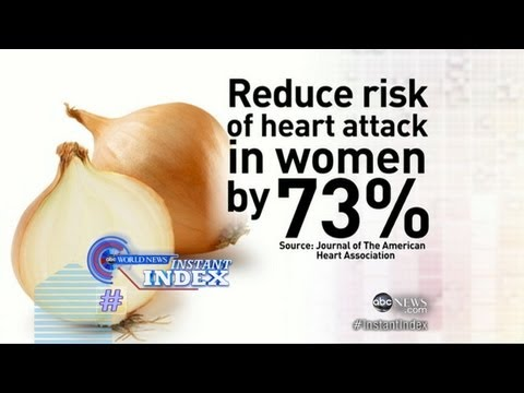 Instant Index: Onion Consumption Reduces Risk of Heart Disease