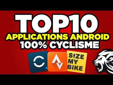 TOP 10 - Applications Android pour le vélo