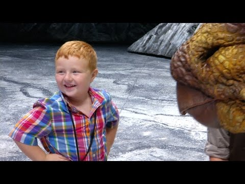 """Apparently"" kid gets sent to see ""real dinosaurs""."