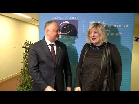 Президент Республики Молдова провел встречу с Комиссаром Совета Европы по правам человека