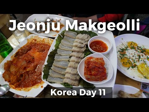 Jeonju Makgeolli - Best SOUTH KOREAN FOOD Experience! (Day 11)