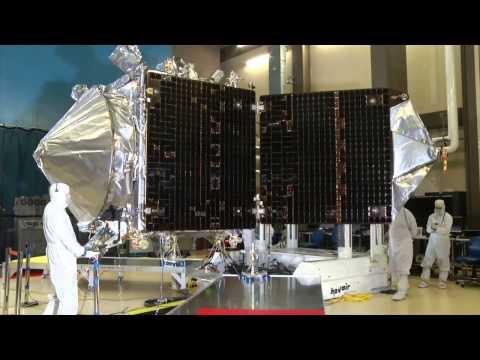 MAVEN solar panel deployment test