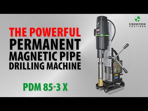 PERMANENT MAGNETIC PIPE CORE DRILLING MACHINE Video