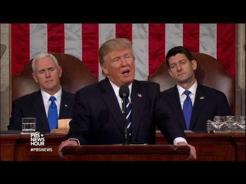 Spotlighting a survivor of a rare disease, Trump attacks federal regulation