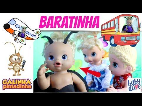 Baby Alive Galinha Pintadinha a BARATA diz que tem canal infantil