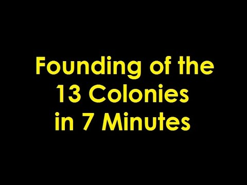 Founding of the 13 Colonies