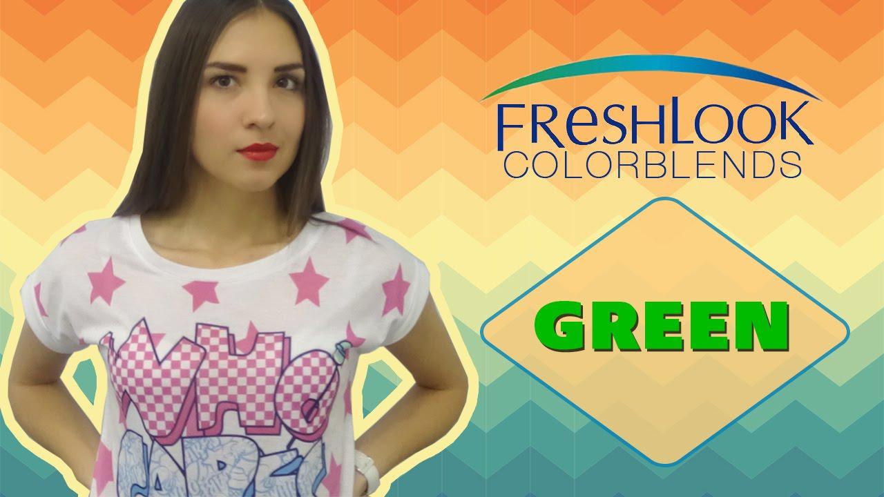 Цветные линзы для темных и светлых глаз Freshlook Colorblends Цвет: Green. Выпуск № 20