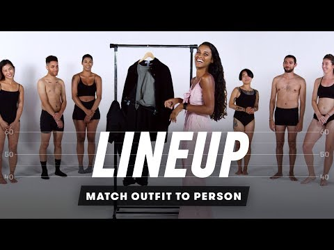 People Try to Match Outfits to a Group Strangers