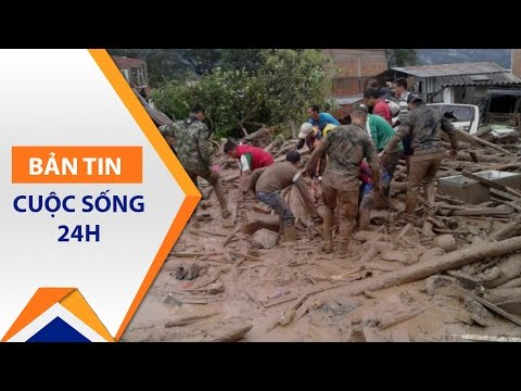 Lở đất ở Colombia: Khi thời gian là mạng sống | VTC - Thời lượng: 58 giây.