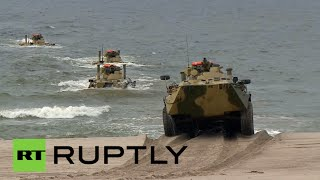 Russia military drills video: Baltic Fleet war games in Kaliningrad