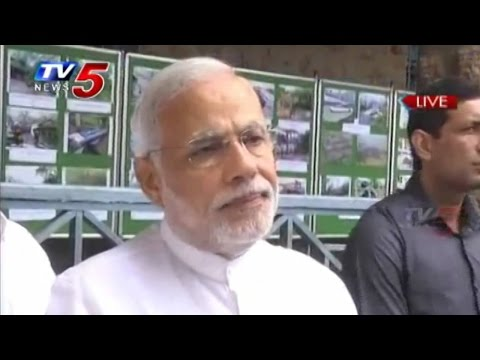 PM Modi Announces Rs 1,000 Crore Assisstance to AP for Cyclone HudHud : TV5 News