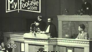 1936 NEWS: EMPEROR HAILE SELASSIE OF ETHIOPIA ADDRESSES LEAGUE OF NATIONS