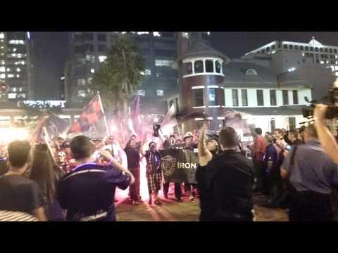 Video - Orlando City Soccer supporters group match - Iron Lion Firm - Orlando City - Estados Unidos
