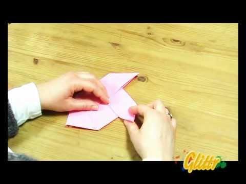 Fische basteln - Faltanleitung Origami