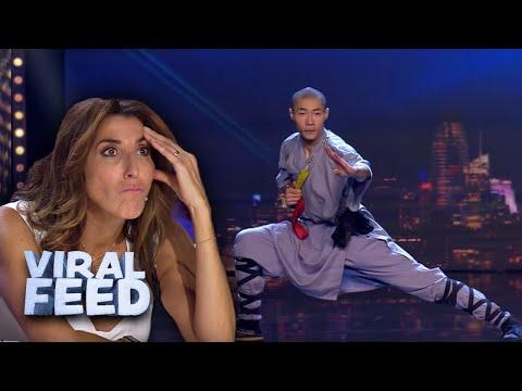 KUNG FU WARRIOR IMPRESSES JUDGES with CRAZY skills on Spains Got Talent 2019   VIRAL FEED