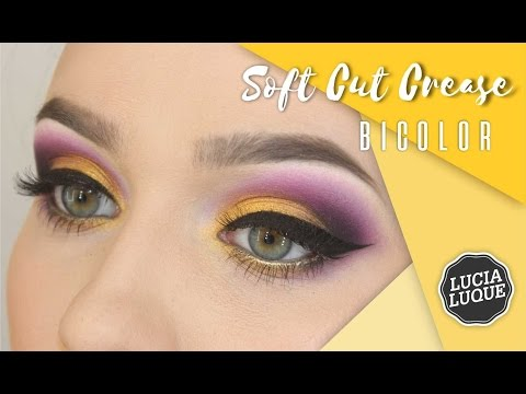 Soft Cut Crease Bicolor - Amarillo Y Violeta