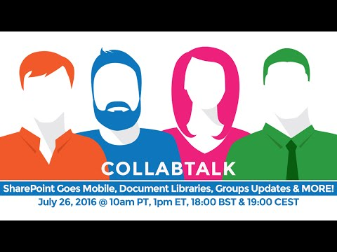 SharePoint Goes Mobile, Document Libraries, Groups Updates