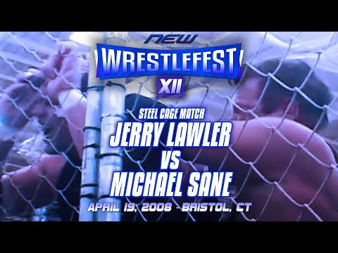 """Steel Cage Match: Michael Sane vs. Jerry """"The King"""" Lawler"""