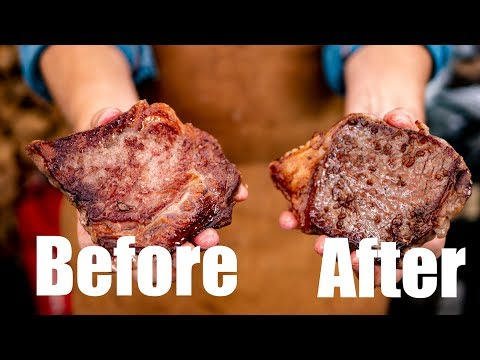 Season your steak ... before or after grilling??