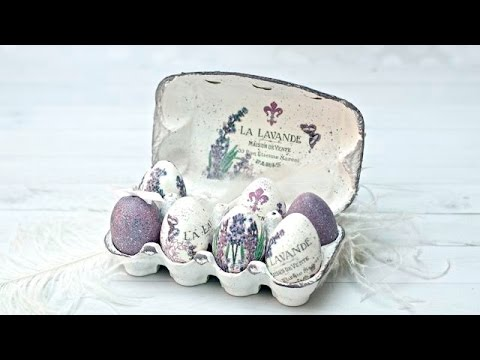decoupage - box of eggs for easter