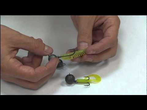 монтаж силиконовой приманки видео