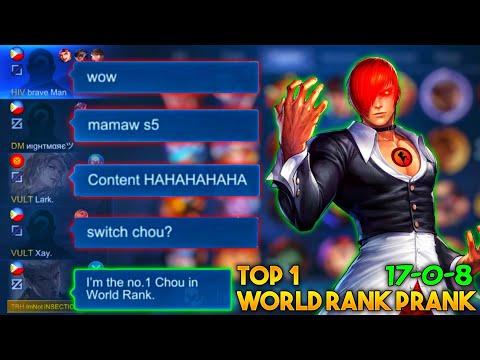 iNSECTiON CHOU PRANK TOP 1 WORLD RANK !   My TEAMMATES Shocked to my Skills!