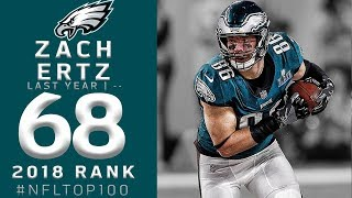 #68: Zach Ertz (TE, Eagles) | Top 100 Players of 2018 | NFL