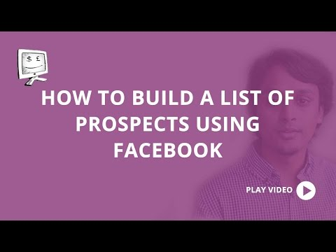 How to build a list of prospects using Facebook