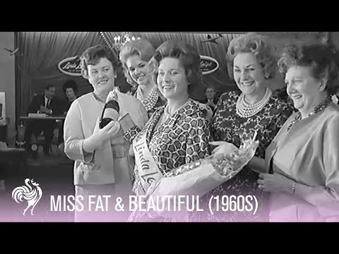 'Miss Fat & Beautiful' At The British Fat Lady Contest (1960s) | Vintage Fashions