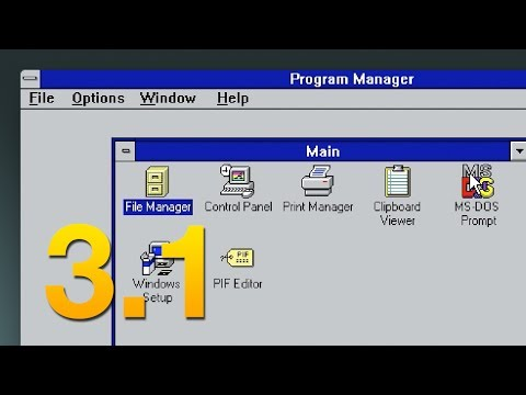 A Tour of Windows 3.1 - Software Showcase