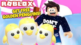 How To Get A Free Golden Penguin New Adopt Me Penguin Update
