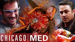 Chandelier Falls On Curator | Chicago Med