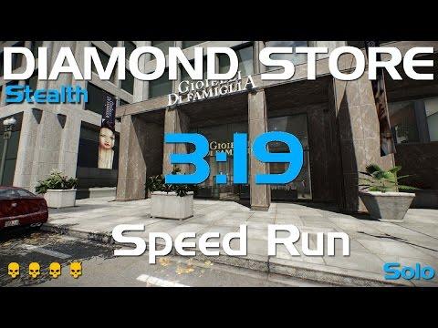 Payday 2 - Diamond Store - DeathWish Solo Stealth Speedrun- 3:19 GT