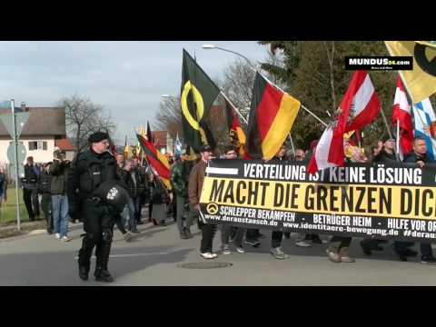 "Video – 27.02.2016 Demo in Freilassing ""Wir sind die Grenze"" / AT-DE Freilassing-Salzburg"