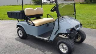 7. Ez Go TXT Gas Golf Cart With Rear Utility Bed For Sale