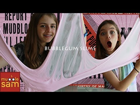 HOW TO MAKE FLUFFY BUBBLEGUM SLIME CHALLENGE | Mugglesam