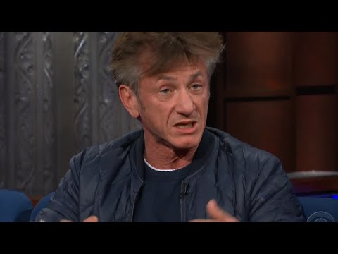 Image result for Drugged-Up Sean Penn THREATENS Trump On Colbert, Audience Gives NASTY Surprise