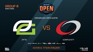 OpTic vs compLexity - DreamHack Open Austin 2018 - map2 - de_nuke [CrystalMay, SleepSomeWhile]