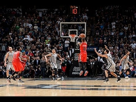 Video: The Blazers and Spurs Duel in Another Triple Overtime Thriller